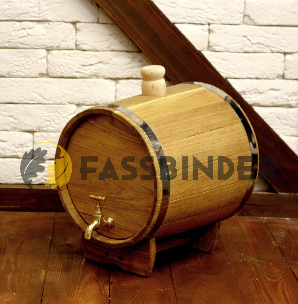 Дубовая бочка (жбан) для алкоголя Fassbinder™ 15 литров, фото 1