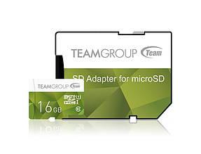 Карта памяти MicroSDHC 16GB UHS-I Team Color + SD-adapter Green (TCUSDH16GUHS43)