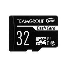 Карта памяти MicroSDHC 32GB UHS-I Class 10 Team Dash Card + SD-adapter (TDUSDH32GUHS03)