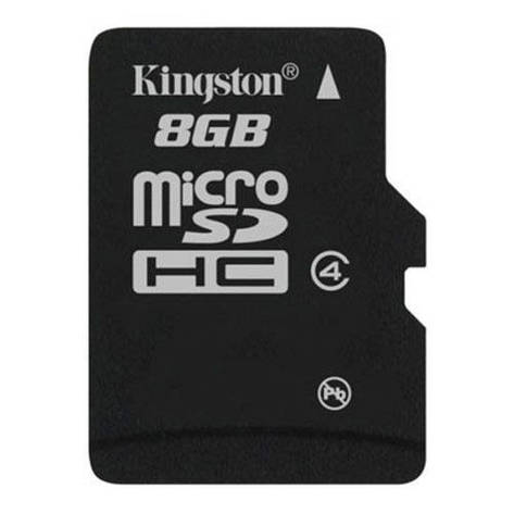 Карта памяти MicroSDHC 8GB Class 4 Kingston (SDC4/8GBSP), фото 2