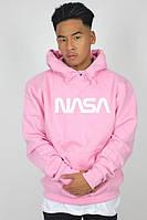 Худи NASA 2019 розовое с логотипом, унисекс (мужское, женское, детское)