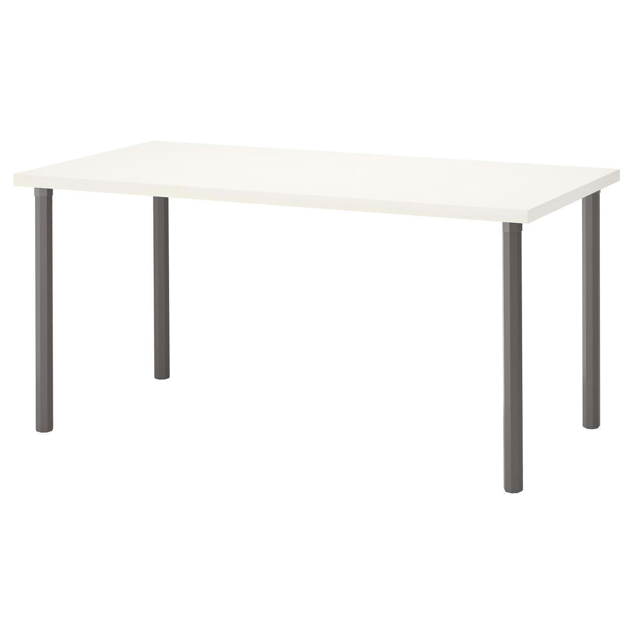 ✅ IKEA LINNMON / ALVARET (592.222.64) Стол, белый, серый