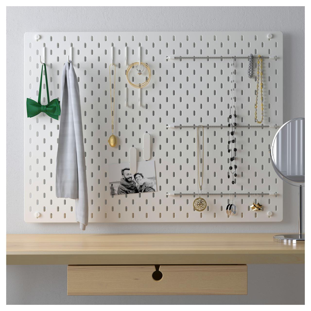 ✅ IKEA SKADIS (492.166.97) Перфорированная доска, белый
