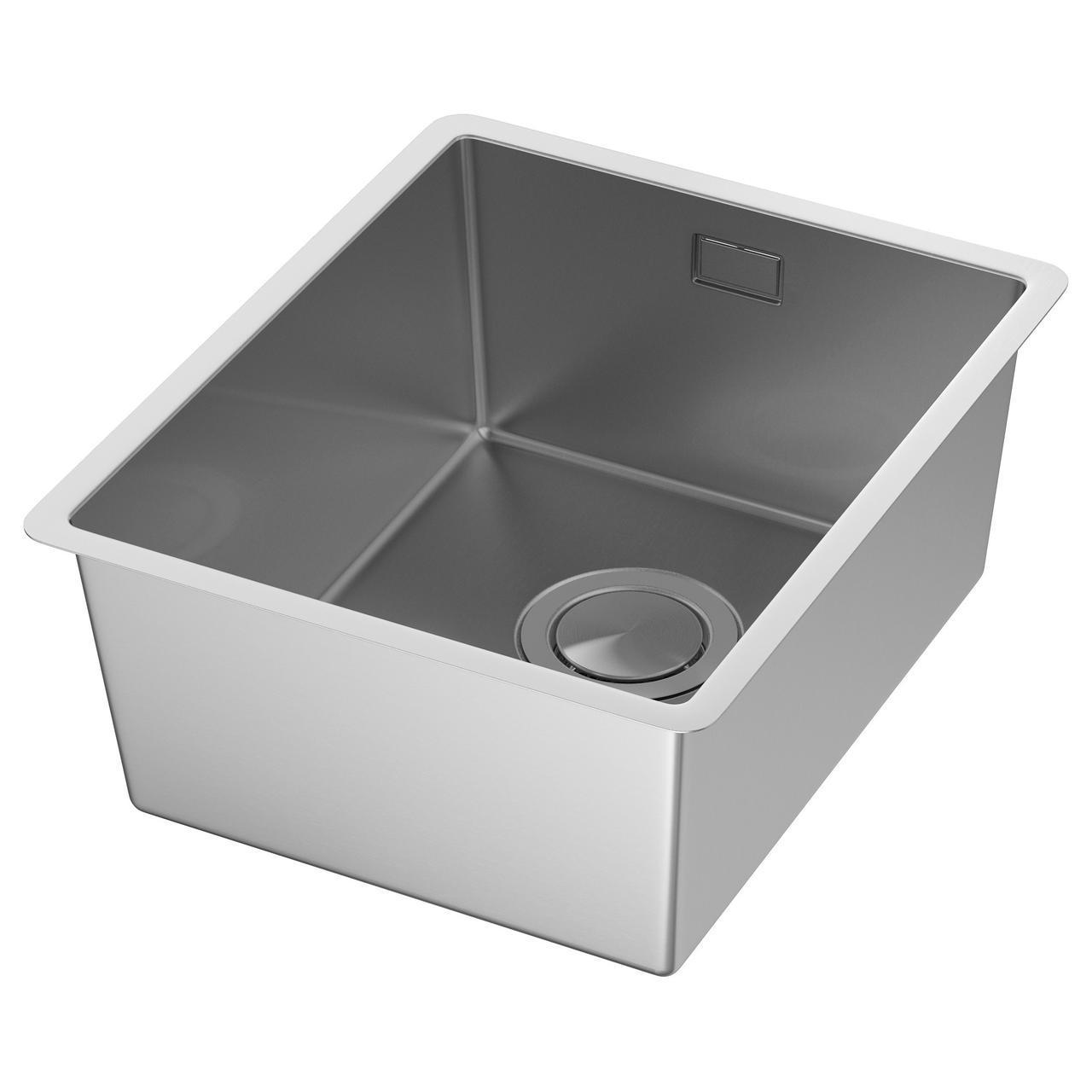 ✅ IKEA NORRSJON (491.576.50) Одинарная врезная мойка, нержавеющая сталь