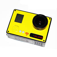 Видеокамера  RIAS F73 Wi-Fi 4K 2 экрана с пультом Yellow (4_918362653), фото 1
