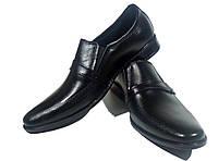 Туфли мужские классические  натуральная кожа черные на резинке (КЛ 11), фото 1