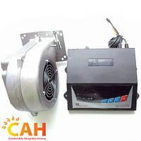 Комплект автоматики для твердотопливных котлов Блок управления SP-05 LED и вентилятор наддува