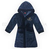 Бамбуковый подростковый халат для мальчика Prince, Синий, Рост 134-140 ( 9-10 лет)