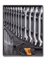 2424 T31-набор ключей рожковых в ложименте,27 предметов