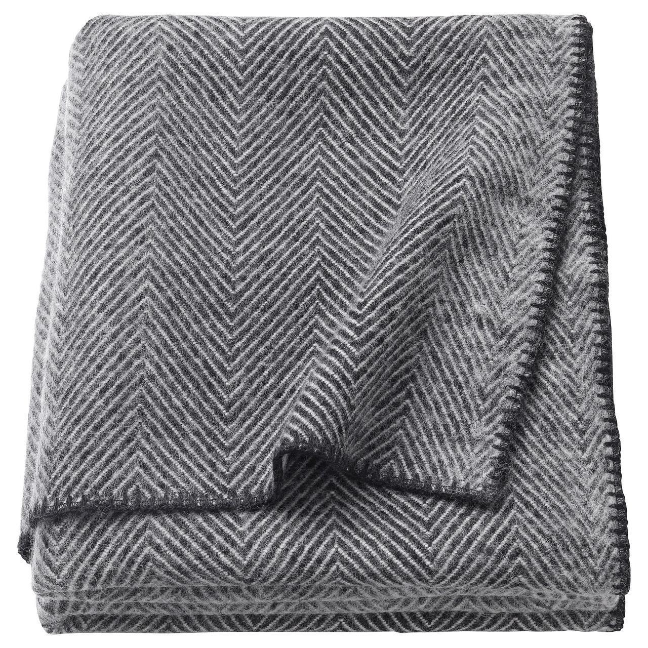 ✅ IKEA STRIMLONN (703.203.81) Плед, серый