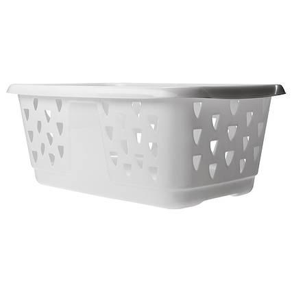 ✅ IKEA BLASKA (201.677.44) Корзина для одежды, белая