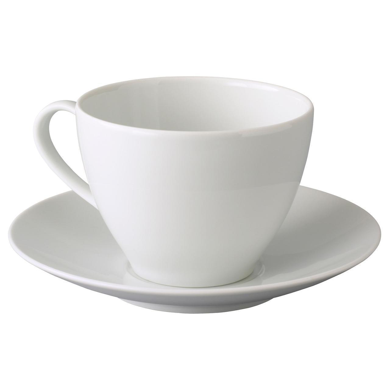 ✅ IKEA VARDERA (402.774.59) Чашка для чая и блюдце, белый