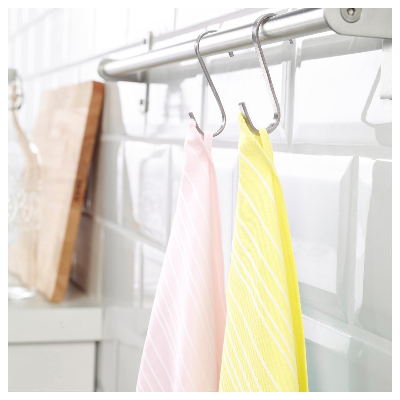 ✅ IKEA TIMVISARE (403.717.96) Полотенце кухонное, желтый, светло-розовый