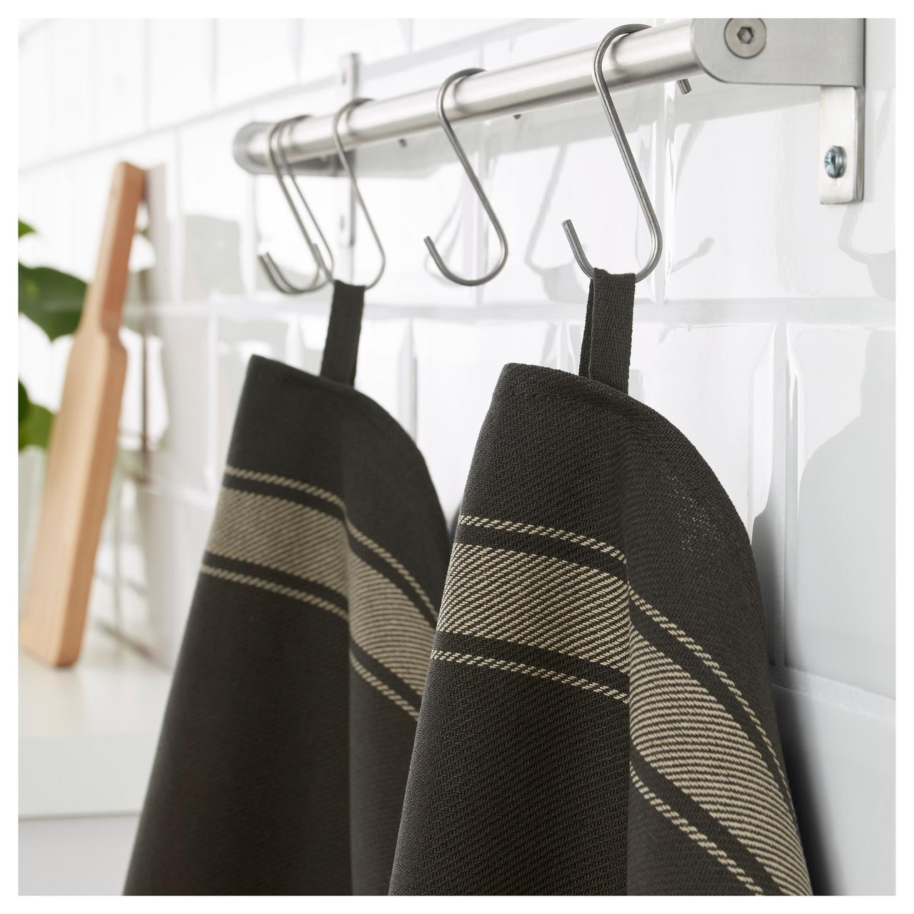 ✅ IKEA VARDAGEN (002.926.35) Полотенце кухонное, черный