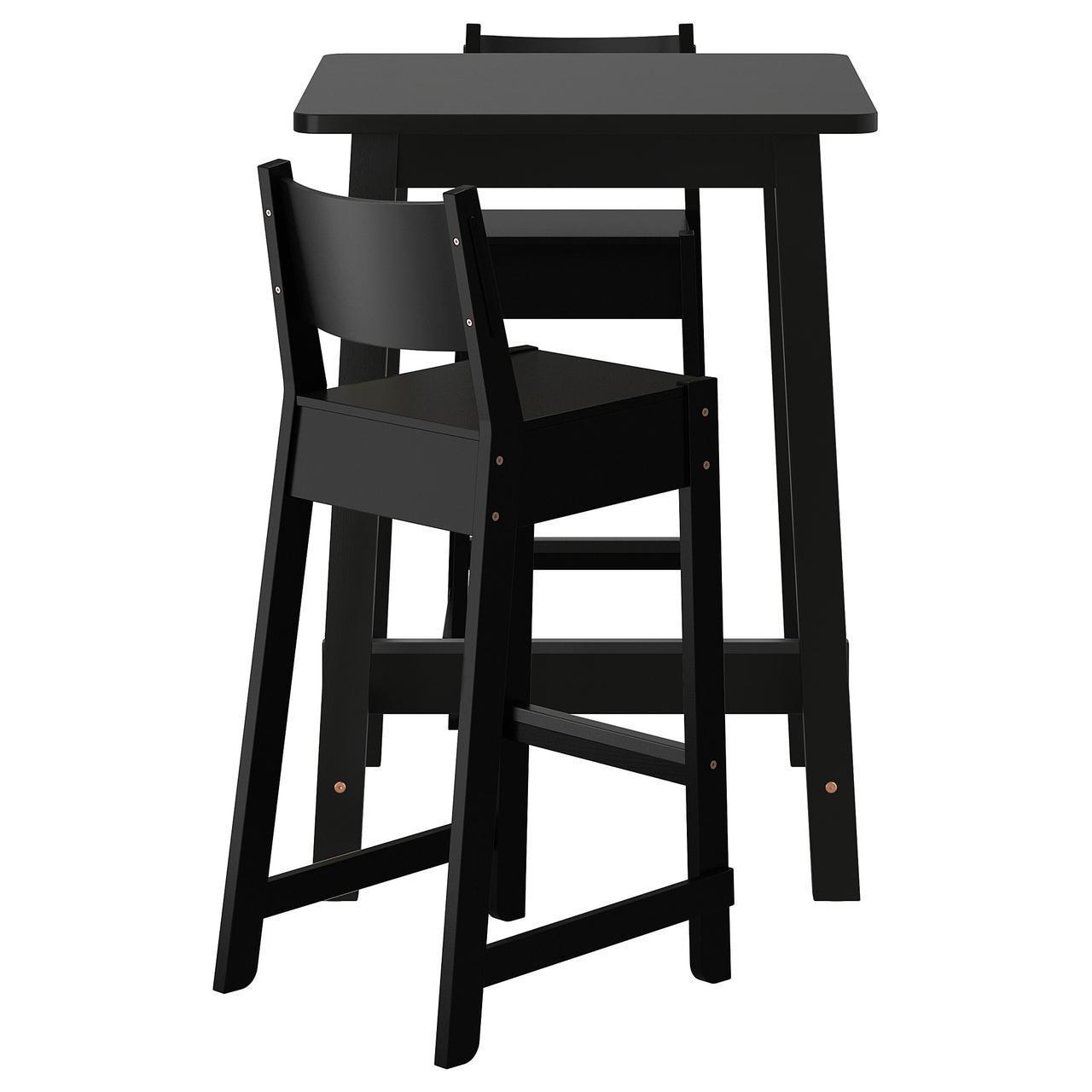✅ IKEA NORRAKER / NORRAKER (792.419.40) Барный стол и 2 стула, черная береза, черная береза
