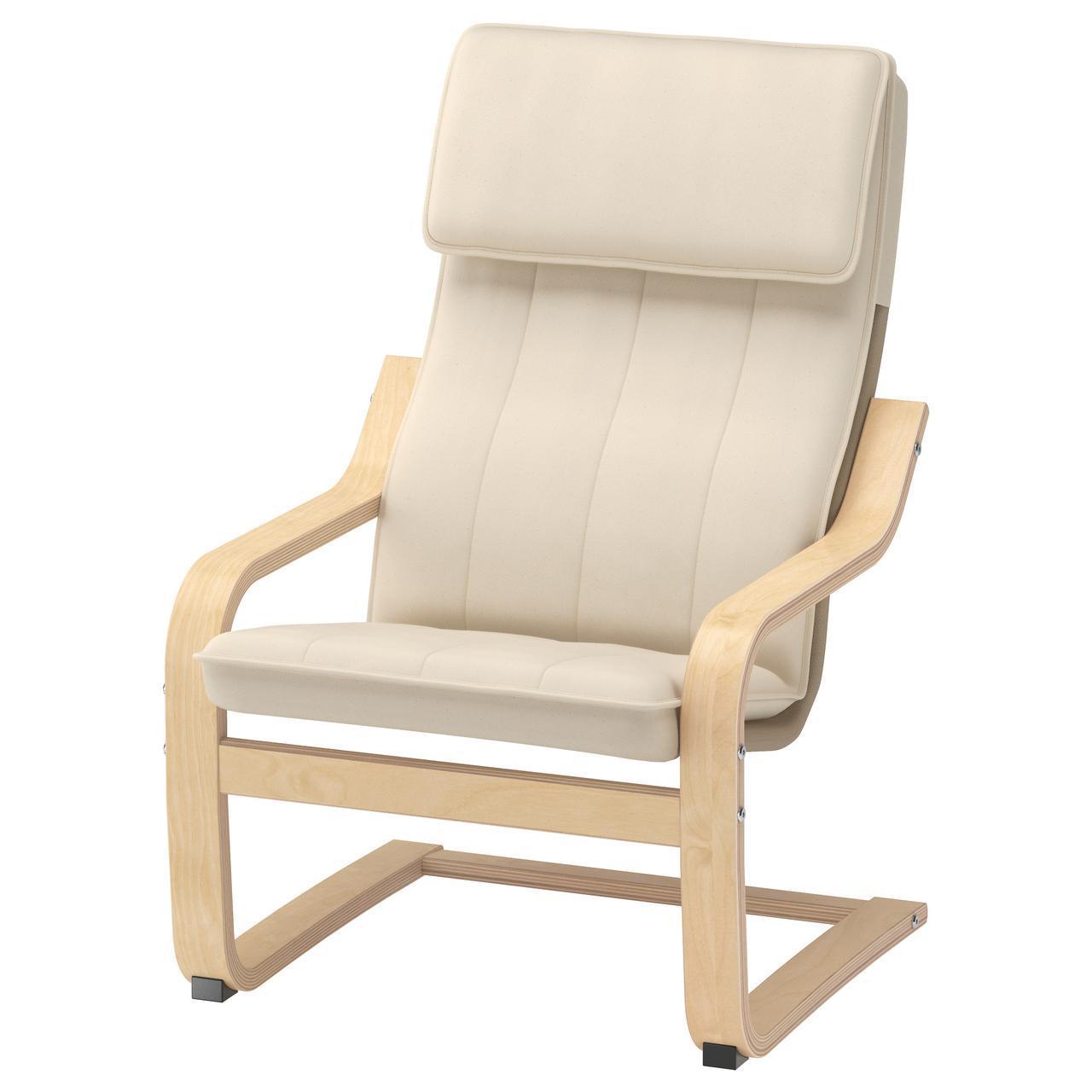 ✅ IKEA POANG (901.165.53) Детское сиденье, окл березки, натуральный Алмас