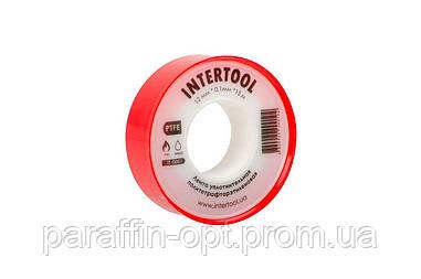 Лента тефлоновая Intertool - 15 м x 12 x 0,1 мм
