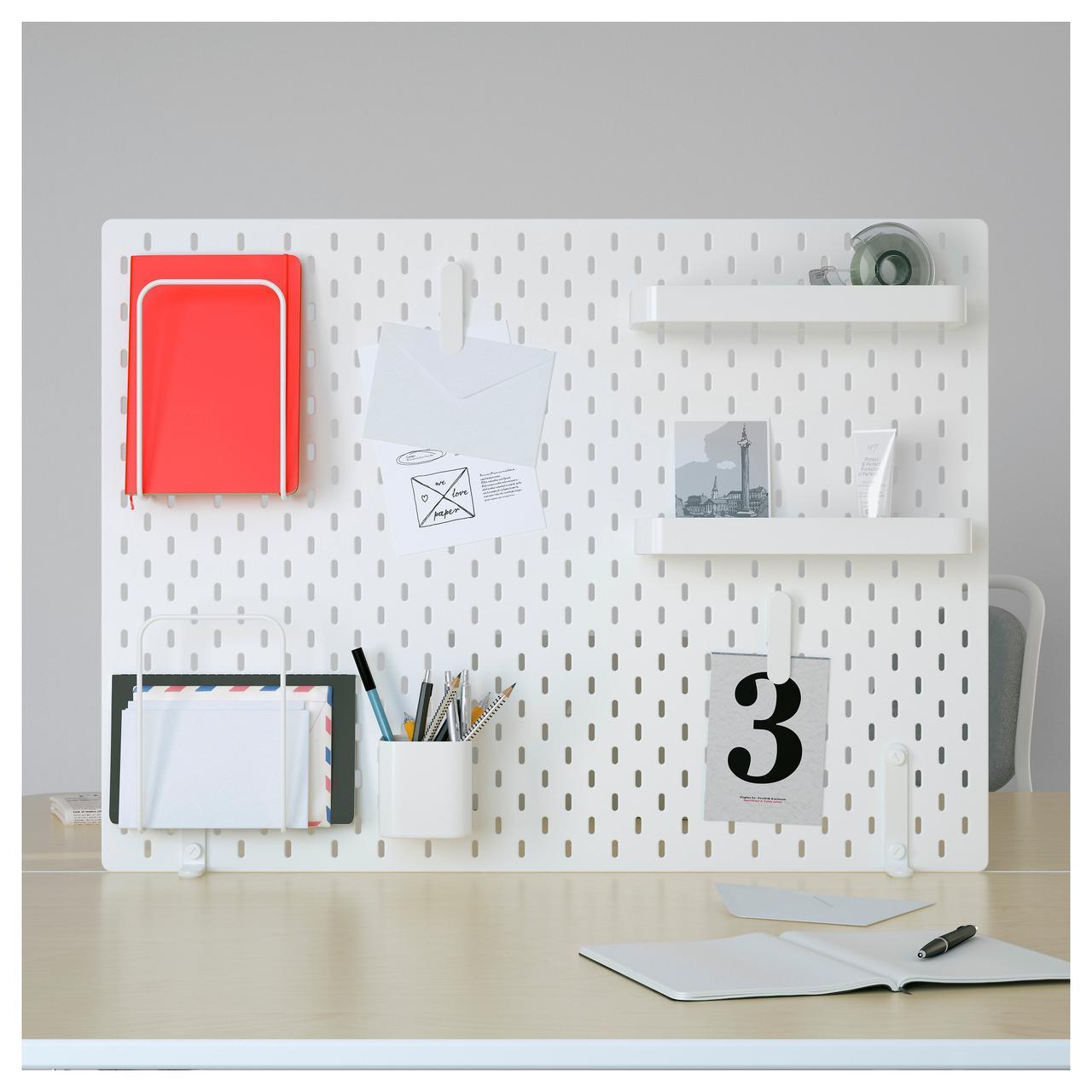 ✅ IKEA SKADIS (292.173.77) Перфорированная доска, белый