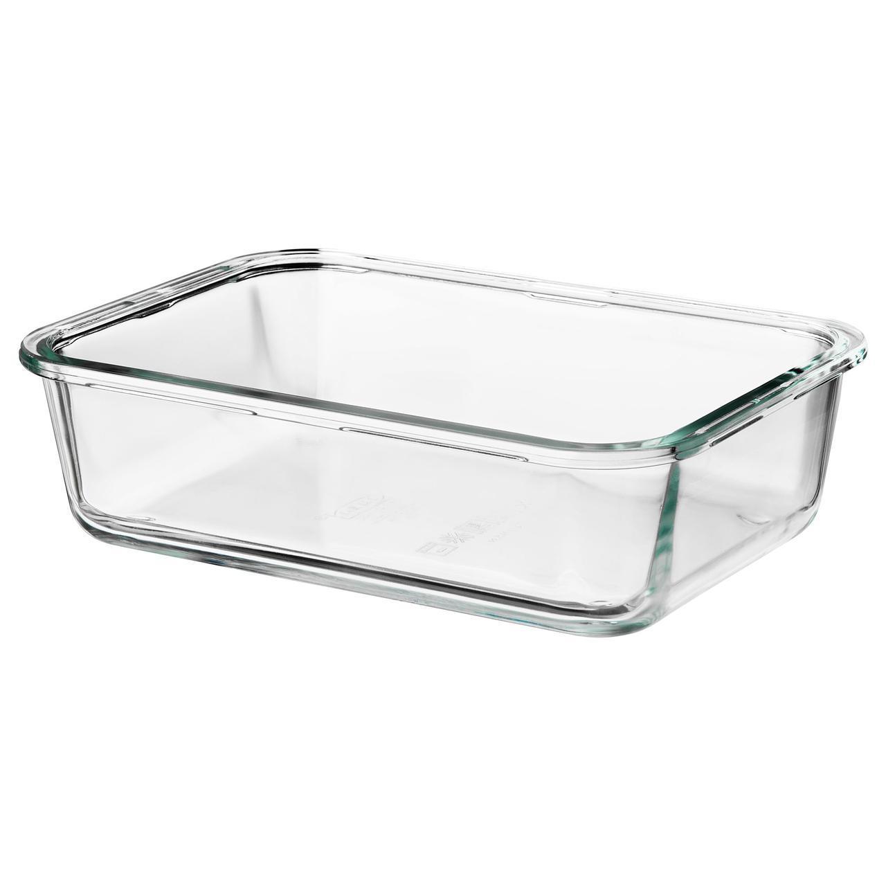 ✅ IKEA IKEA 365+ (703.591.99) Контейнер для еды, прямоугольник, стекло