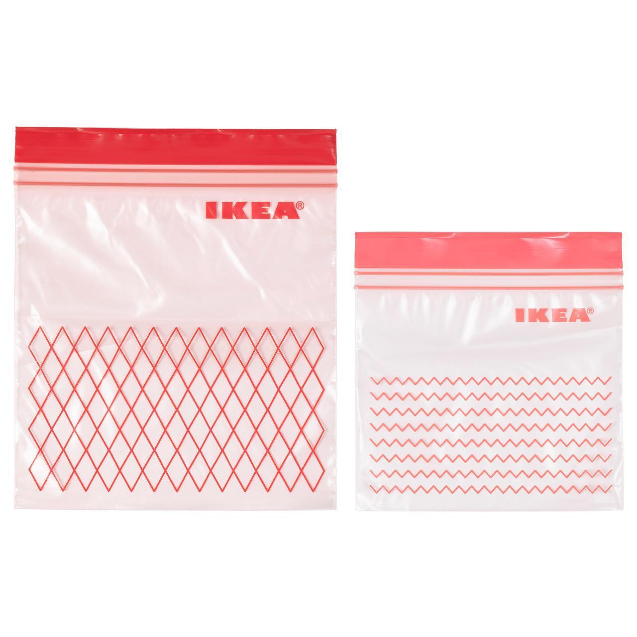 ✅ IKEA ISTAD (203.392.84) Пластиковый пакет, красный