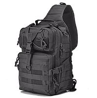 Сумка тактическая мужская рюкзак 20 литров черная Funanasun
