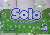 Полотенце бумажное в рулоне белое (3 шт) / SOLO