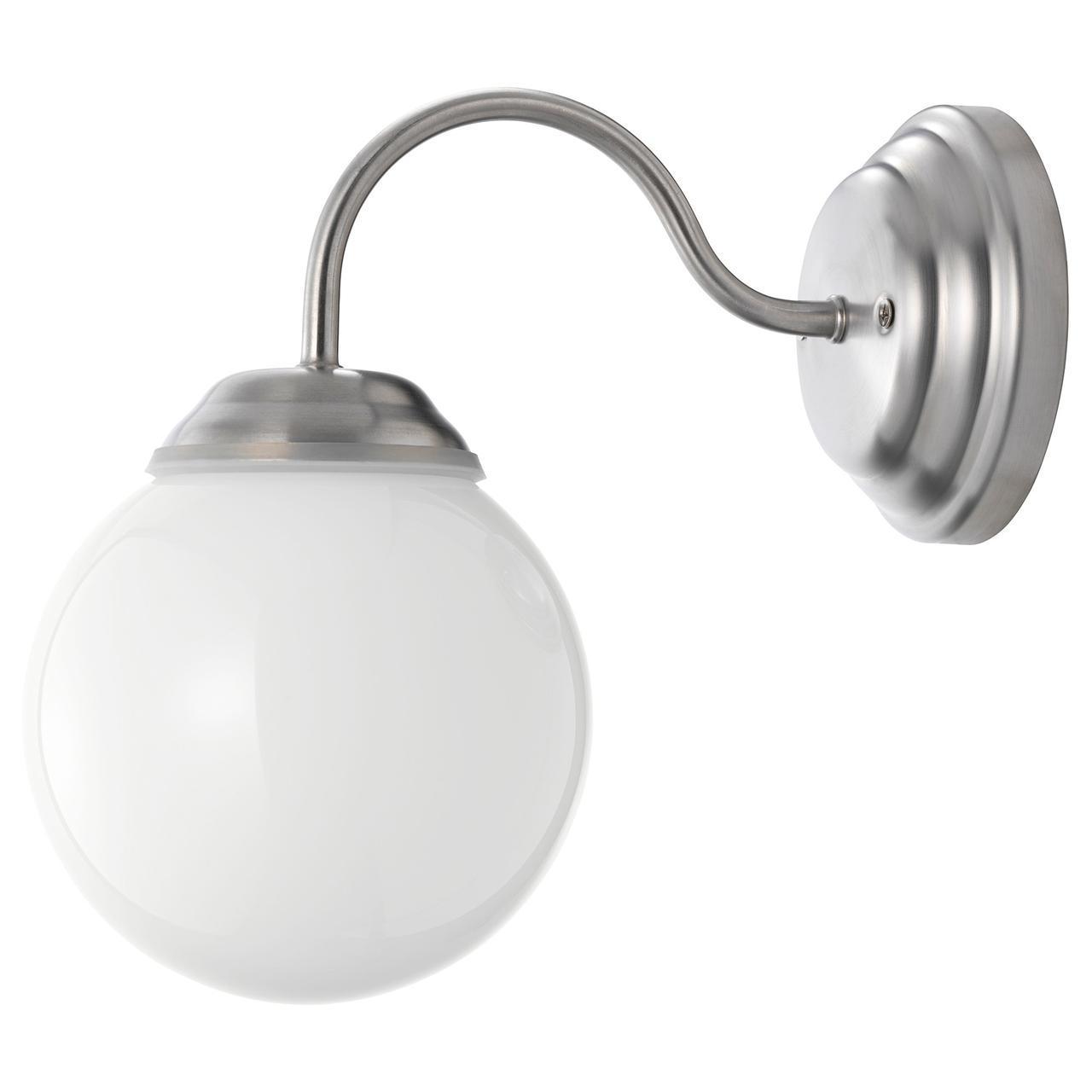 ✅ IKEA LILLHOLMEN (500.774.69) Настенный светильник, никелированный, белый