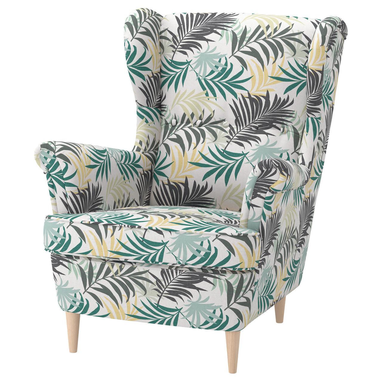 ✅ IKEA STRANDMON (403.598.55) Кресло, Skirtteum светло-голубой