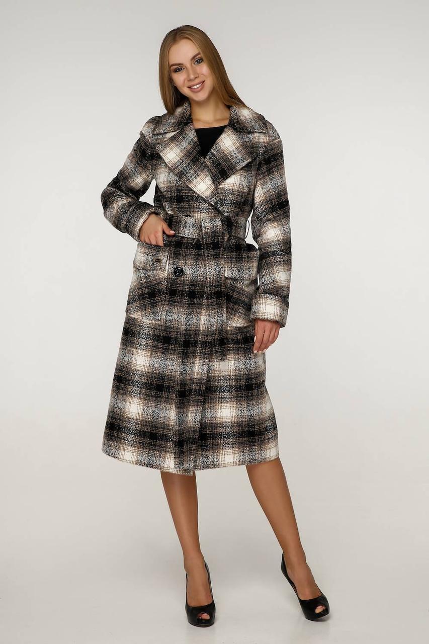 Весняне пальто жіноче в клітку В-1226 Lavista EU-3284 Тон 3