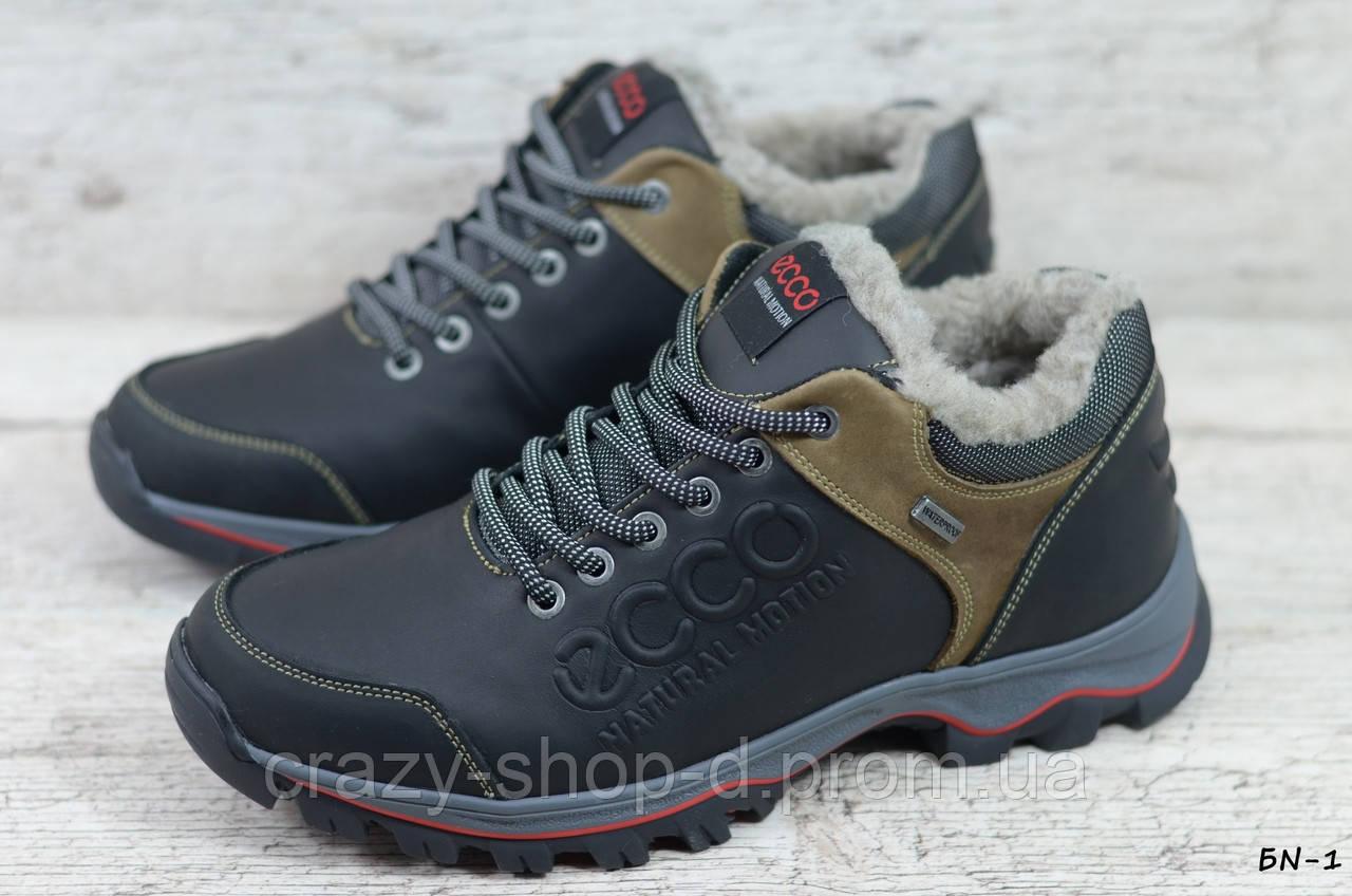 Мужские кожаные зимние ботинки/кроссовки (Код: БN-1  ) ►Размеры [40,41,42,43,44,45]