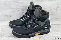 Мужские кожаные зимние ботинки Timderlеnd (Реплика) (Код: 505 ч/с  ) ►Размеры [40,41,42,43,44,45], фото 1