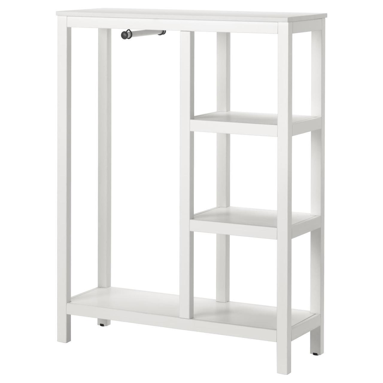 ✅ IKEA HEMNES (803.796.20) Открытый Шкаф/гардероб, белый