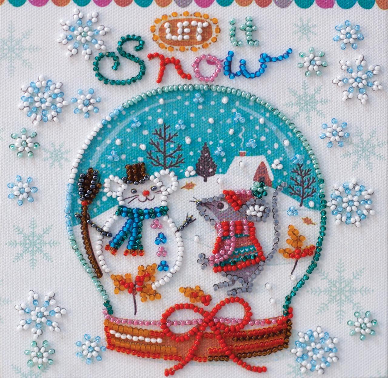 Набор - мини для вышивки бисером Снежность