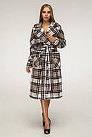 Весеннее женское пальто в клетку В-1226 Lavista EU-3284 Тон 2, фото 1