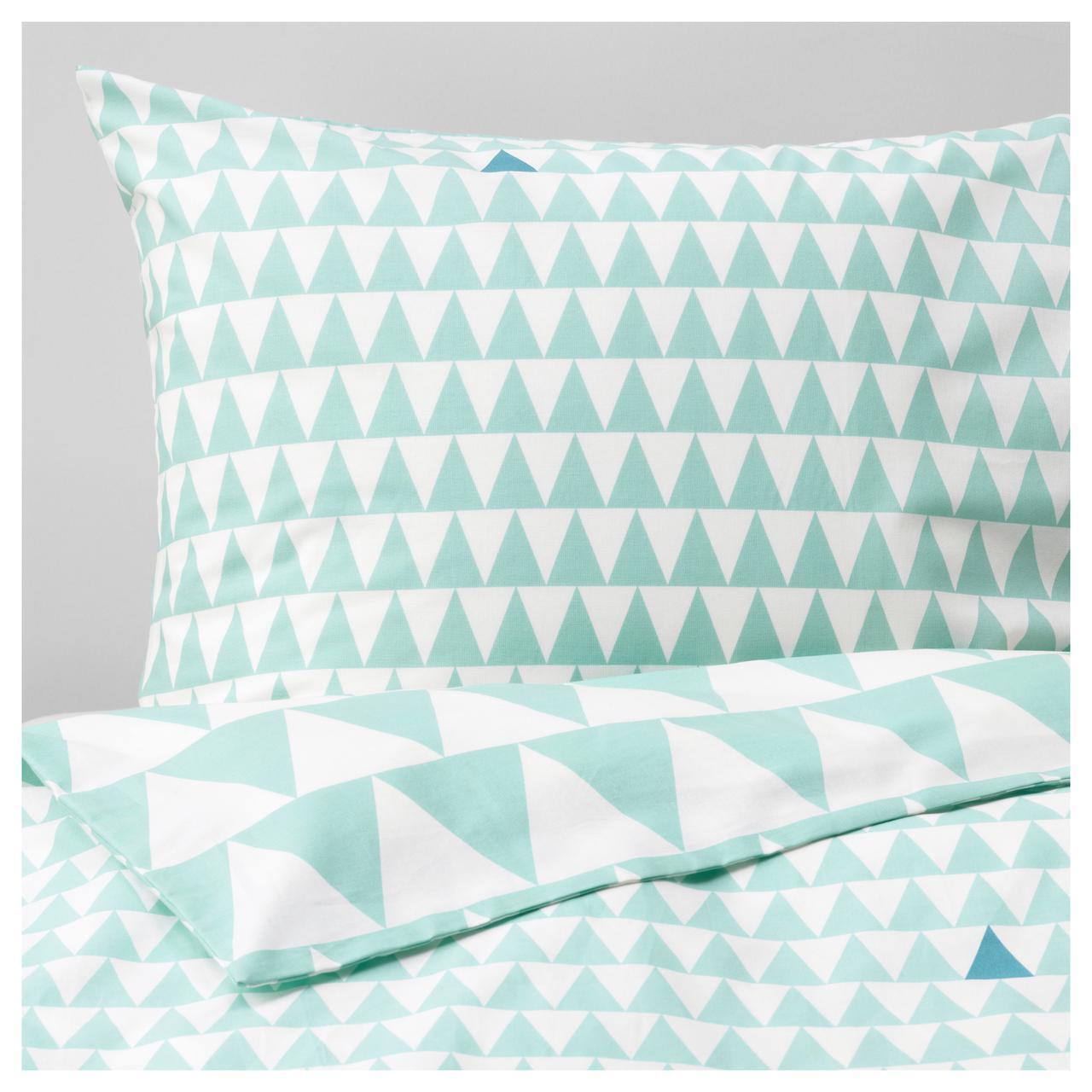 ✅ IKEA STILLSAMT (003.586.50) Комплект постельного белья, светло-бирюзовый