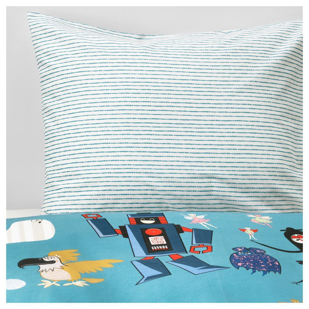 ✅ IKEA LATTJO (103.511.82) Комплект постельного белья, темно-зеленый, синий