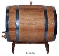 Бочка дубовая для вина, 30л.