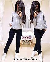 """Зимний теплый женский спортивный костюм  на флисе """"Converse"""" - S M L XL в расцветках"""