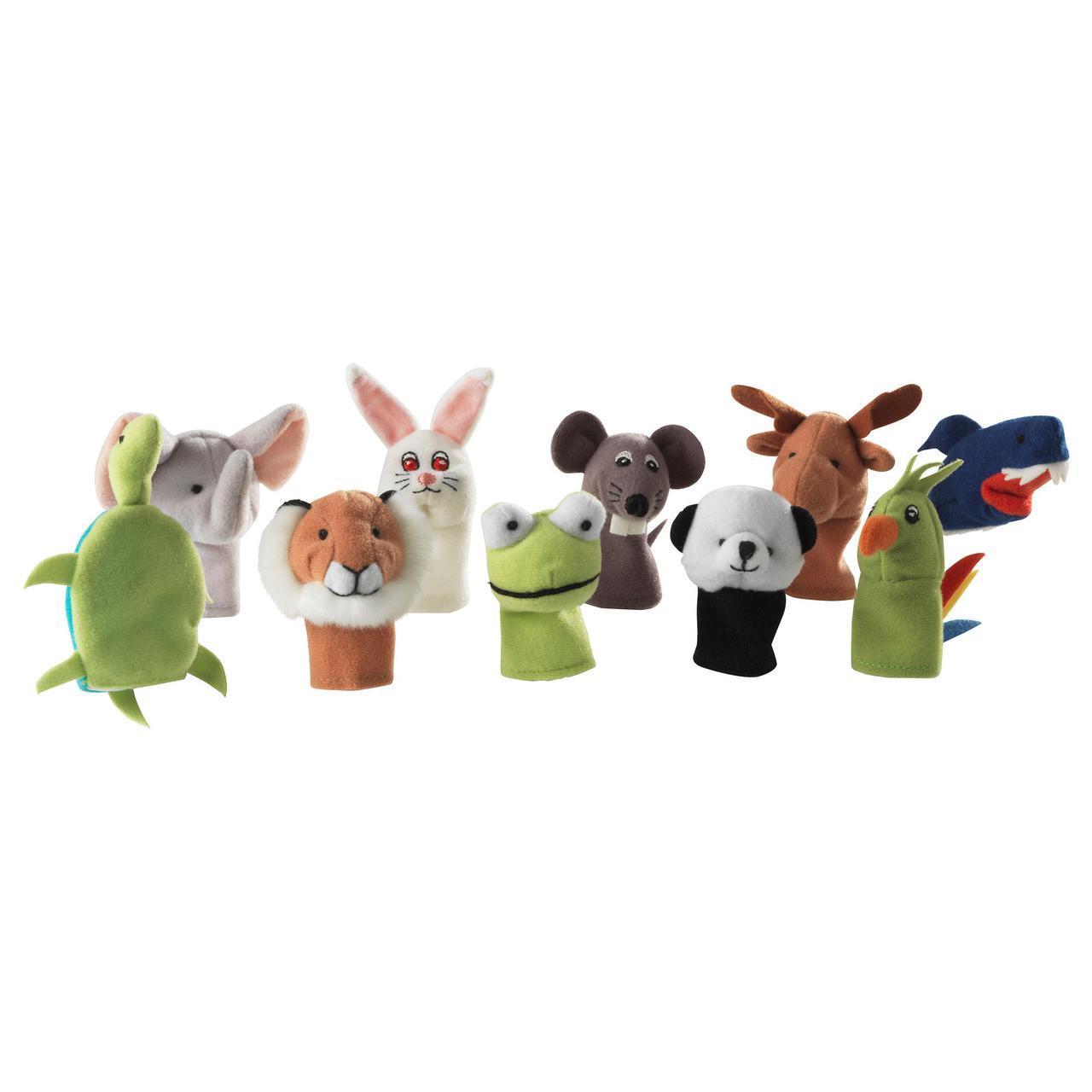 ✅ IKEA TITTA DJUR (101.592.78) Набор кукол на палец, разные цвета, разные цвета