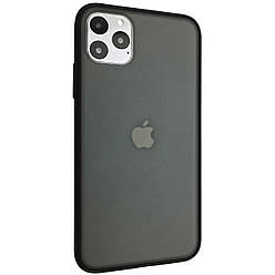 Чехол Silicone iPaky Polychromatic Apple iPhone 11 Pro Max (black)