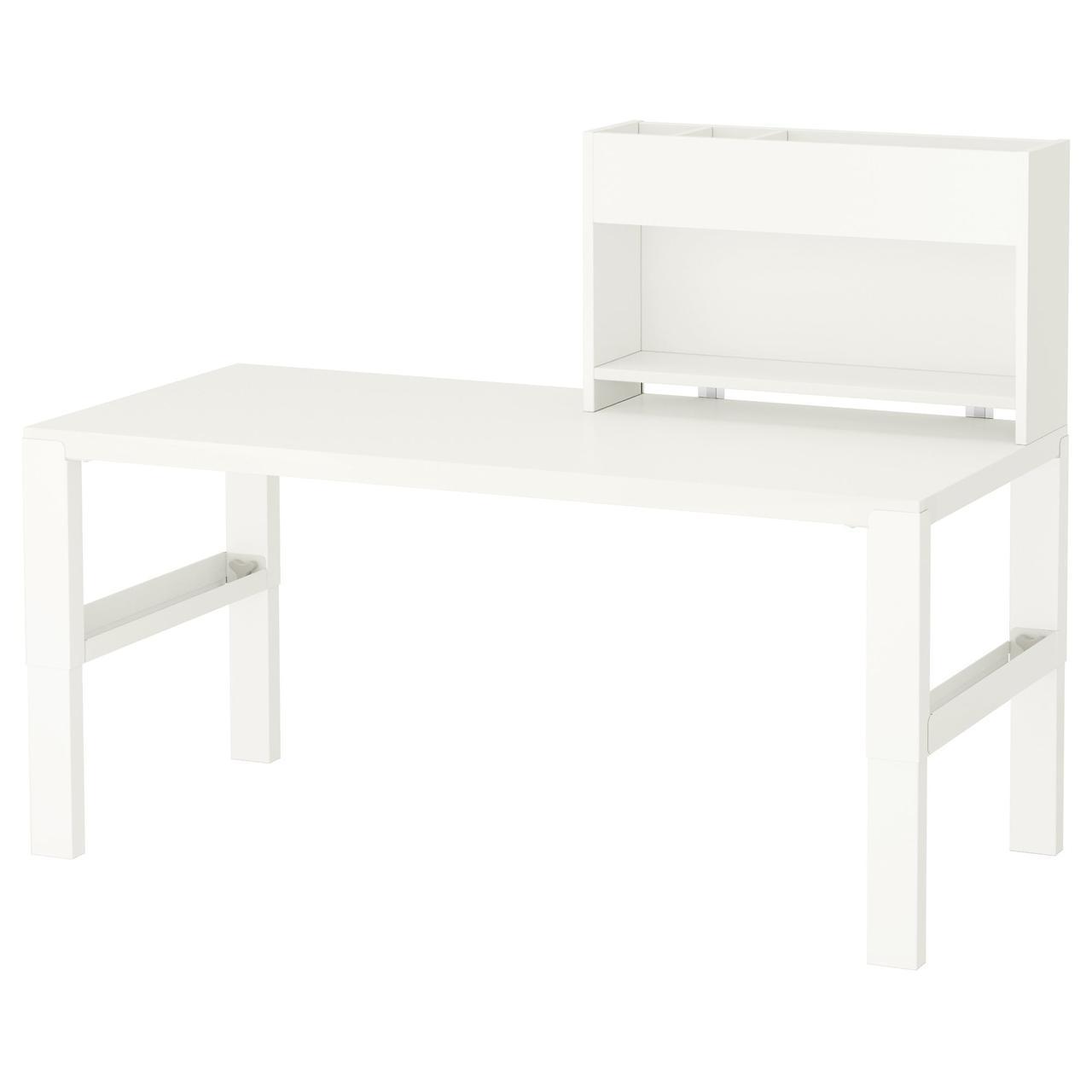 ✅ IKEA PAHL (491.289.69) Рабочий стол с и дополнительный модуль для стола, белый, зеленый