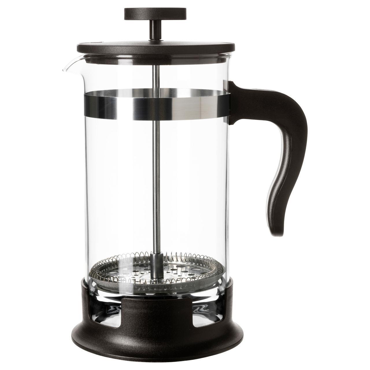 ✅ IKEA UPPHETTA (602.413.89) Кофе-пресс/заварочный чайник, стекло, нержавеющая сталь