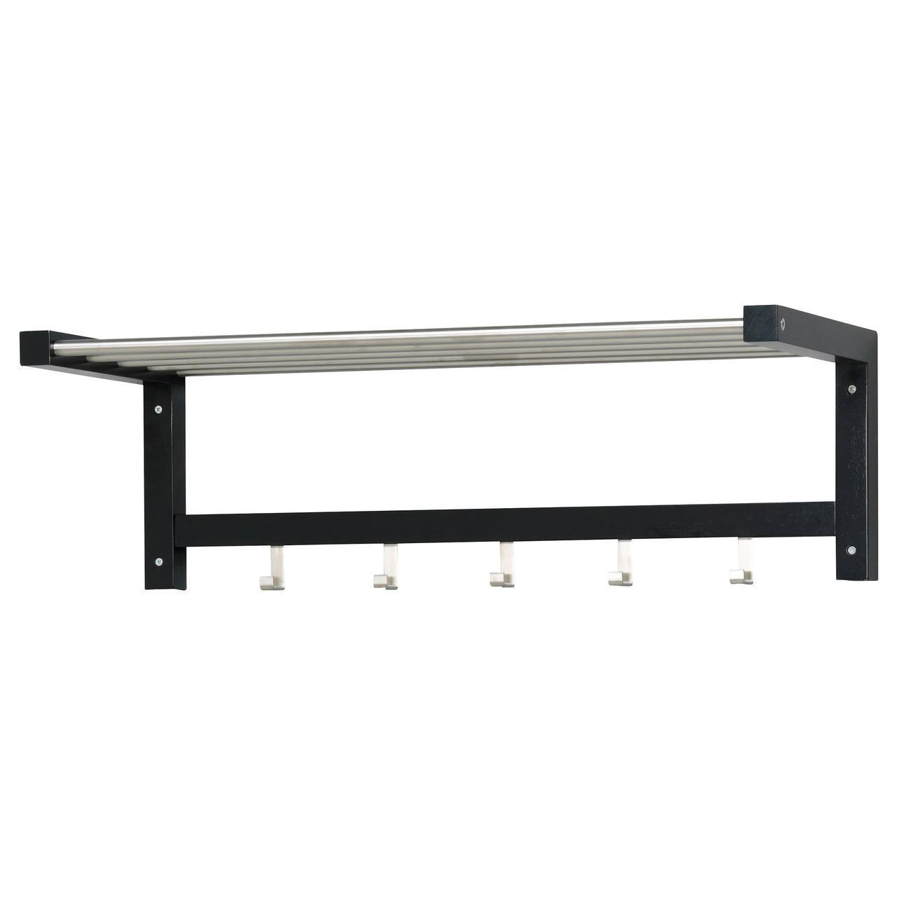 ✅ IKEA TJUSIG (201.526.34) Полка для головных уборов черный