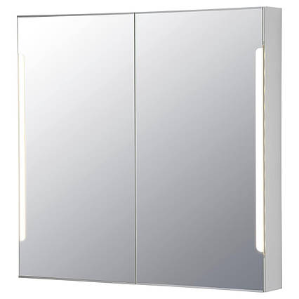 ✅ IKEA STORJORM (202.481.18) Зеркальный шкафчик / 2 дверки, встроенный osw, белый