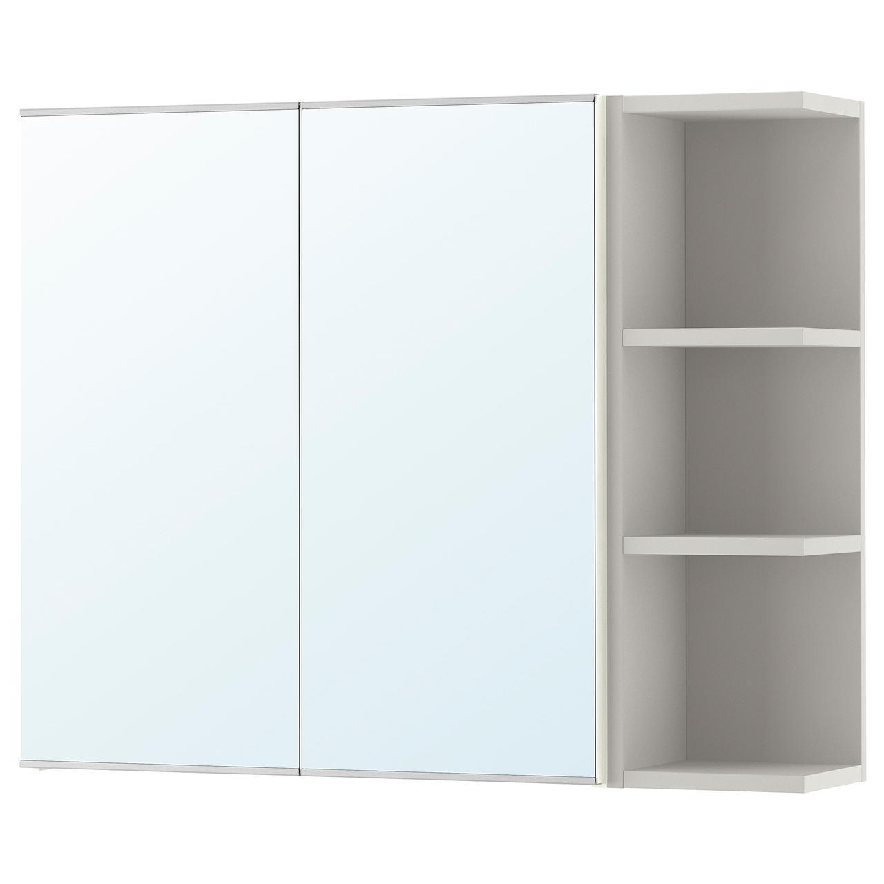 ✅ IKEA LILLANGEN (192.425.08) Шкаф с блеском 2 двери/1 el kranc, белый, серый