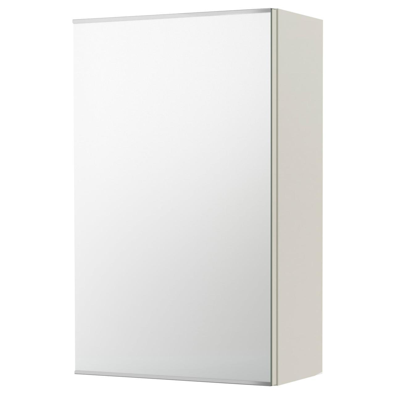 ✅ IKEA LILLANGEN (802.051.68) Шкаф с зеркалом и дверью, черно-коричневый