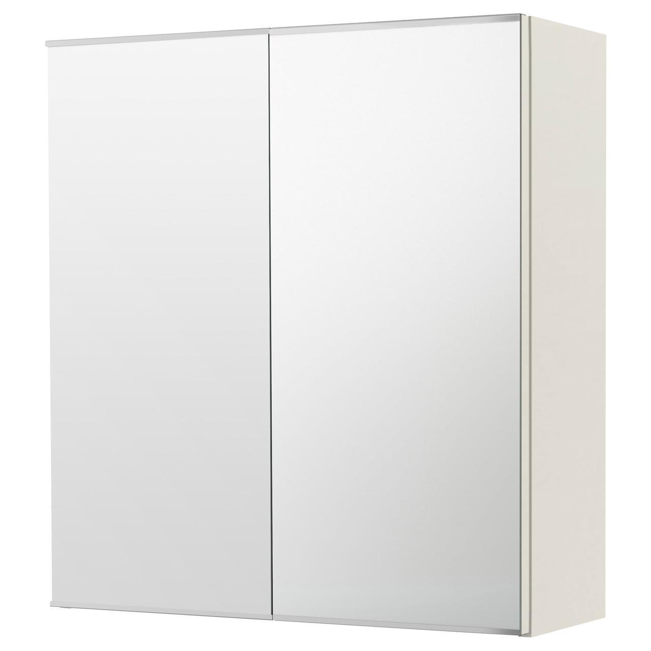 ✅ IKEA LILLANGEN (202.051.71) Зеркальный шкаф и пара дверей, коричнево-черный