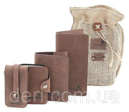 Оригинальный набор из кожаных аксессуаров SHVIGEL , Коричневый, фото 2