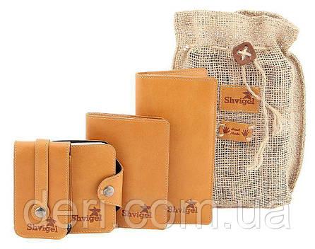 Набор кожаных аксессуаров ручной работы, фото 2