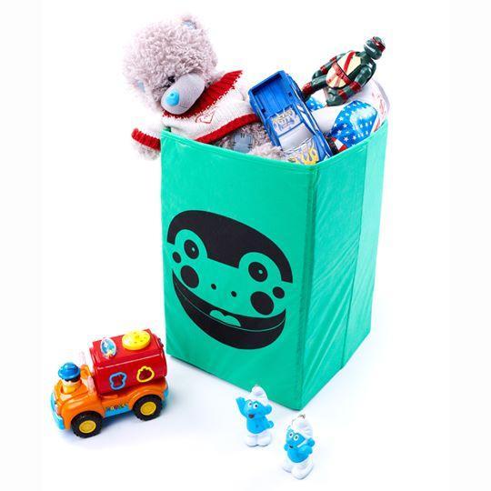 Ящик для хранения игрушек, 35 * 35 * 55 см, Зоопарк Лягушка (без крышки)